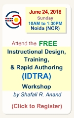 Free ID & Rapid eLearning Primer Workshop by Shafali R. Anand