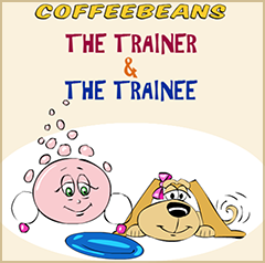 Coffeebeans and Froth - The Trainer and The Trainee - Comic Strip of Training Cartoons by Shafali R. Anand and Creative Agni.