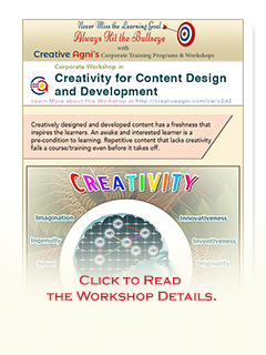 Click to Read about the Creativity for Content Design and Development Training Workshop.