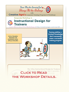Corporate Trainings Workshops On Instructional Design Elearning Gamification Content Development And Creativity Programs Conducted Pan India In Delhi Ncr Mumbai Bangalore Bangaluru Hyderabad Chennai And Other Cities